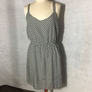 Black with White Hearts Dress